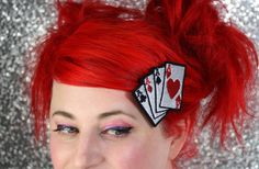 Hey, I found this really awesome Etsy listing at https://www.etsy.com/listing/83808391/playing-cards-hair-clip-aces-rockabilly