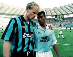 Dennis Bergkamp and Aron Winter.