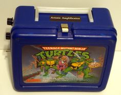 "TMNT Lunchbox Guitar Amp. Because rock trumps that ""ninja rap"" garbage any day."