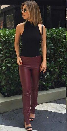 43622f3162156 Mariana Sampaio   Street Style   calça vinho   preto e vinho