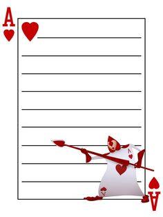 Journal Card - Playing Card - Ace of Hearts - Alice in Wonderland ...