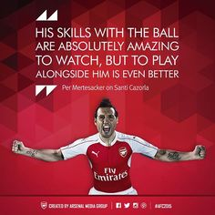 Quotes of the Year. #Arsenal #AFC2015 Per Mertesacker on Santi Cazorla.