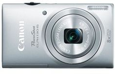 Canon PowerShot ELPH 130 IS Silver 16.1MP Wi-Fi 8x Optical Zoom Digital Camera