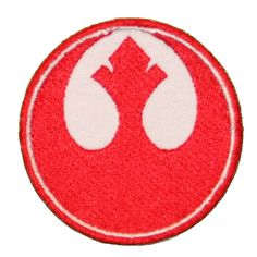 STAR WARS Patch Iron on Rebel Alliance logo by StarlitnightPatches