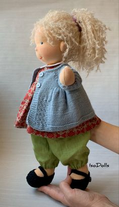toys for boys tutorials Waldorf soft nature fiber doll, IsoDolls Handmade Dolls Patterns, Doll Patterns Free, Doll Dress Patterns, Handmade Toys, Free Pattern, Clothing Patterns, Knitting Dolls Clothes, Knitted Dolls, Crochet Dolls