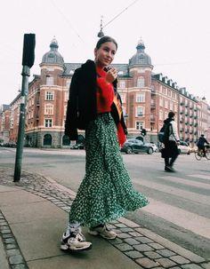 Ganni street style | Lizzyvdligt | Julliard Mohair pullover and Capella Mesh skirt |
