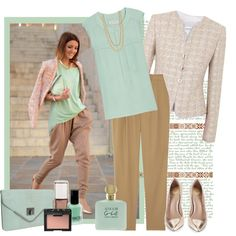 pastels and a touch of gold by bodangela on Polyvore featuring мода, A.L.C., Armani Collezioni, TIBI, Vince Camuto, BCBGeneration, Stella & Dot, NARS Cosmetics, Giorgio Armani and J.Crew