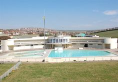 """Saltdean Lido, Brighton UK  Not my favourite pool..but it does bring back lovely memories... Ithe name """"lido"""" seemed posh...and I loved the library!"""