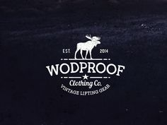 WODPROOF Vintage Logo by Camo Creative
