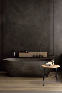 If you have a small bathroom in your home, don't be confuse to change to make it look larger. Not only small bathroom, but also the largest bathrooms have their problems and design flaws. Luxury Bathtub, Bathroom Design Luxury, Bath Design, Villa Design, House Design, Ideas Baños, Decor Ideas, Dark Bathrooms, Luxury Bathrooms