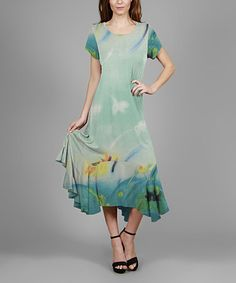 Loving this Green & Aqua Dress - Plus on #zulily! #zulilyfinds