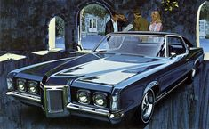 Vintage Cars 1969 Pontiac Gran Prix by Art Fitzpatrick and Van Kaufman Pontiac Grand Prix, Retro Cars, Vintage Cars, Funny Vintage, Vintage Photos, Cool Car Drawings, Automobile, Pontiac Cars, Buick Riviera