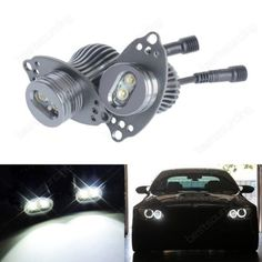 Cree 20w led marker #angel eyes bmw 3 series e90 e91 lci with #halogen #headlight,  View more on the LINK: http://www.zeppy.io/product/gb/2/262547824231/