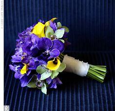 {Wedding Eye Candy} Purple, Yellow and Lime Green Wedding Inspiration Yellow Bouquets, Purple Wedding Bouquets, Diy Wedding Flowers, Yellow Flowers, Wedding Colors, Wedding Ideas, Yellow Wedding, Wedding Inspiration, Trendy Wedding