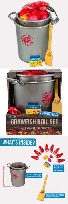 Tool Sets 158747: Lil Bit Boiling Kid S Play Set Includes Pot, Strainer, Paddle, Crawfish, Fixin S -> BUY IT NOW ONLY: $39.99 on eBay!
