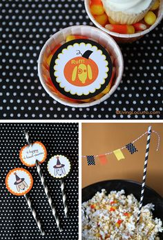 Dog Themed Halloween Free Party Printables by LivingLocurto.com