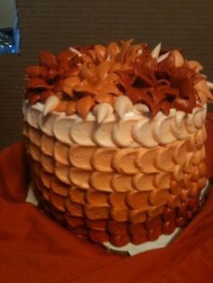 Good bye summer.... Hello fall... ombre cake - by TracysCustomicing @ CakesDecor.com - cake decorating website
