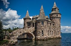 Boldt Castle, located on Heart Island (New York) in the Thousand Islands of the St. Lawrence River, along the northern border of New York State, is a major landmark and tourist attraction in its region.