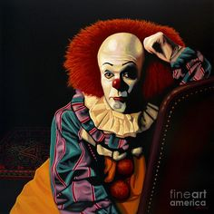 Pennywise Print featuring the painting Pennywise by Paul Meijering