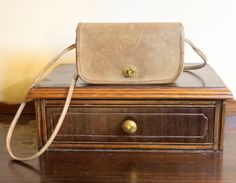 Coach NYC Dinky Bag In Putty (Tabac ?) Leather - Distressed-  But Very Cool
