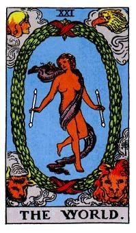 EL MUNDO, Significado de las cartas del Tarot
