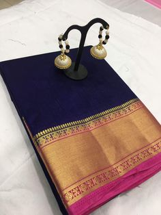 Catlog:-Arni border Fabric:-Tushar silk original With faNcy EarRinGs Silk Saree Kanchipuram, Kanjivaram Sarees, South Indian Sarees, Indian Silk Sarees, Bridal Silk Saree, Saree Wedding, Wedding Dresses, Silk Sarees Online Shopping, India Shopping