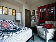 Linda Woodrum Portfolio | Contemporary Bedrooms from Linda Woodrum on HGTV