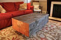 salvaged wood table
