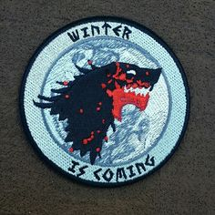 """Winter Is Coming"" 3 "" iron-on backed morale patch. Limited run in our store…"