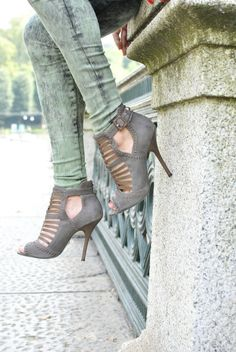 grey gladiator front booties. Again I repeat who needs a man?