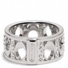 Coach  PIERCED SIGNATURE C PAVE BAND RING