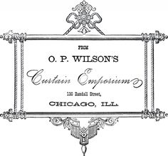 Vintage Curtain Emporium Label! - The Graphics Fairy