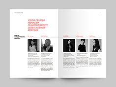 team page section Magazine Design Inspiration, Magazine Layout Design, Graphic Design Brochure, Graphic Design Print, Editorial Layout, Editorial Design, Portfolio Fotografia, Mise En Page Magazine, Minimalist Graphic Design