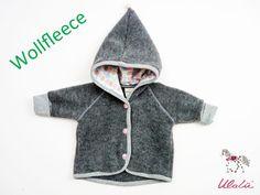 Jacken - Babyjäckchen Bio Fleece Merinowolle  - ein Designerstück von Ulalue-Kinderdinge bei DaWanda