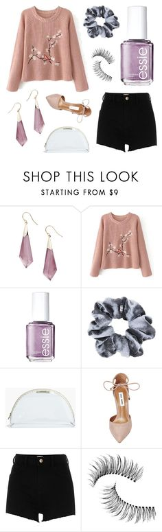 """Untitled #98"" by dlotus ❤ liked on Polyvore featuring Alexis Bittar, Essie, Madewell, Steve Madden, River Island and Trish McEvoy"