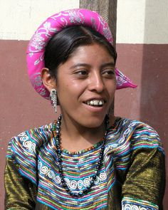 Mujer joven en su traje tradicional - Young woman in her native dress; Fiesta del pueblo - Joyabaj, El Quiché, Guatemala by Lon, via Flickr