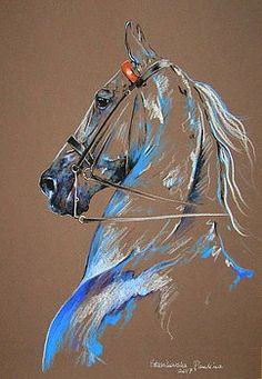 33 Horse Drawing Ideas With Crayon - Art Horse Drawings, Animal Drawings, Watercolor Horse, Watercolor Paintings, Horse Sketch, Crayon Art, Equine Art, Horse Art, Animal Paintings