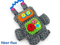 Fiber Flux: Free Crochet Pattern...Pocket Bot!