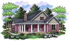 Cottage House Plan chp-47120 at COOLhouseplans.com 1811sf