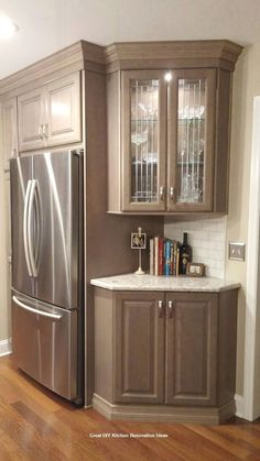 Kitchen Remodel Meme With Fireplace - diy kitchen remodeling kitchen makeover kitchen renovation New Kitchen Cabinets, Kitchen Redo, Kitchen And Bath, Corner Cabinets, Corner Cabinet Kitchen, Kitchen Floor, Corner Liquor Cabinet, Diy Kitchen Makeover, Teal Kitchen