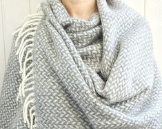 Your place to buy and sell all things handmade Blanket Scarf, Wool Scarf, Christmas Gifts For Mom, Herringbone, Mother Day Gifts, Shawl, Bridal Shower, Pure Products, Crochet