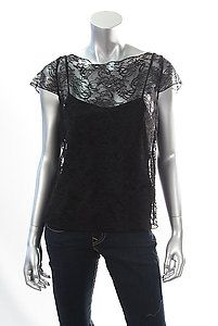 ALICE & OLIVIA ANELLE LACE TEE Size Large  Retail: $264  PlushAttire.Com Price: $79.90  70% OFF RETAIL!  #fashiondeals