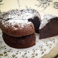 Gateau au Chocolat is simply chocolate cake in french, gateau meaning cake and chocolat...well, chocolate!