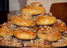 This recipe of Tahini Rolls or Bread Rolls comes directly from famous ancient Armenian Cuisine. It was cooked in Constantinople (Istanbul) long before the Armenian Genocide. It is easy to deliver. Korean Food Recipes, Kebab Recipes, Flatbread Recipes, Lebanese Recipes, Turkish Recipes, Cooking Recipes, Ethnic Recipes, Japanese Sweets, Tahini
