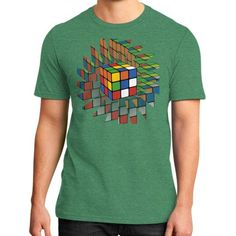 Rubik's Cube District T-Shirt (on man)