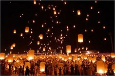We did this with the youth at church, writing prayers on the lanterns