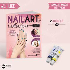 2 ACRILICI (blu e giallo) #edicola #collezione #unghie #nailart
