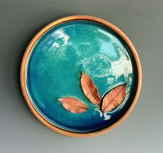 Stoneware Plater with Leaves. Marc Hecker.