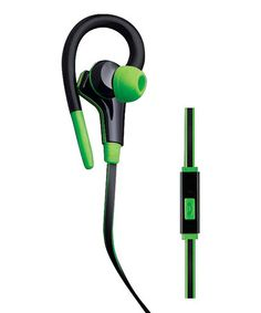 Look at this #zulilyfind! Black & Green Enhance Sport Earbuds #zulilyfinds