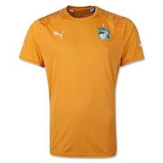 Ivory Coast 2014 FIFA World Cup Home Jersey will be worn in their third Fifa World cup tournament see more world cup soccer jerseys at http://www.soccerbox.com/soccer-jerseys-world-cup-fifa-2014